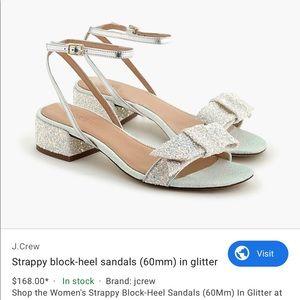 J.Crew Strappy Glitter Sandals sz 7